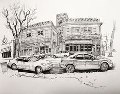 Finally back at it. From Spinelli's Coffee and Ice Cream, Park Hill neighborhood, Denver. #UrbanSketchers