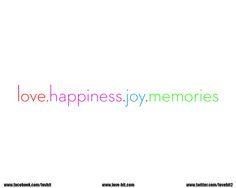 LOVE, HAPPINESS, JOY AND MEMORIES #ART #CUTE #SWEET #LOVE #JOY #HAPPINESS #MEMORIES