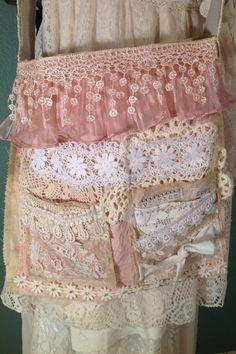 Magnolia Pearl Junk Gypsy Style Boho Gypsy Shabby Large Shoulder Dump Bag Purse