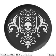Palm drawn damask featuring everything pirate! No computer vector patterns here. For typically the pirate lover who would like something stylish. Stencil Templates, Stencils, Crane, Leg Henna, Computer Vector, Half Sleeve Tattoos Designs, Mom Tattoos, Evil Tattoos, Tatoos