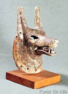 19th+Dynasty+Egyptian+-+Head+of+Anubis,+with+a+hinged+jaw,+used+as+an+oracle+mask,+New+Kingdom