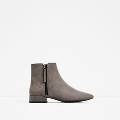 ZARA - WOMAN - FLAT ANKLE BOOTS WITH ZIP