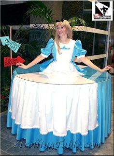 Alice in Wonderland strolling table