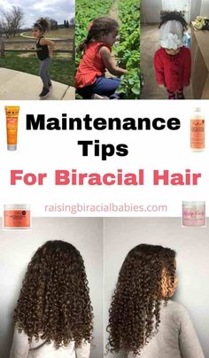 Wondering how to keep your child's mixed hair frizz free and protected through the elements? You need to read these biracial hair care tips for easy, actionable things you can do to protect your kid's hair! Mixed Curly Hair, Mixed Hair Care, Hair Care Oil, Curly Hair Tips, Curly Hair Care, Curly Hair Styles, Curly Girl, Updo Curly, Frizz Free Hair