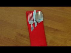 It's so easy to make a pouch to hold your cutlery for a dinner party setting. Looks elegant for any type of celebration dinner. Royalty free music 'Wish' by ...