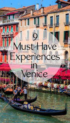 9 Must-Have Experiences in Venice #venice #italy #bucketlist #travel