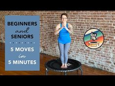 Beginners and Seniors 5 Minute Trampoline Rebounding Workout