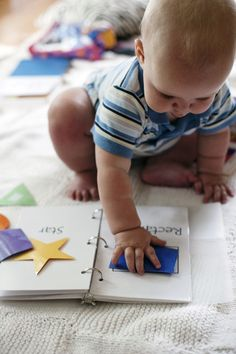 Baby / Toddler DIY Shape Learning.. I am soo doing this for Bryant! It is never ever to early to start this!