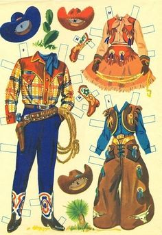 Ranch Family 1957 * Free paper dolls at Arielle Gabriel's The International… Vintage Western Wear, Vintage Cowgirl, Cowboy And Cowgirl, Western Art, Black Cowgirl, Western Theme, Anniversaire Cow-boy, Bota Country, The Lone Ranger