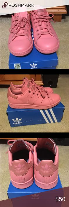Stan Smith Sneakers Stan Smith Pastels, Pink, Kids Sz. 5 (Will fit Women's size 7), Pink, Worn twice adidas Shoes Sneakers