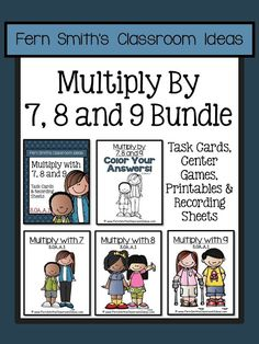Multiplication with Seven, Eight and Nine Bundle!