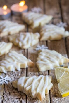 Lemon Shortbread Cookies + 5 More Must Bake Shortbread Recipes - An Italian in my Kitchen Lemon Desserts, Cookie Desserts, Holiday Baking, Christmas Desserts, Cookie Recipes, Delicious Desserts, Dessert Recipes, Christmas Holiday, Cookie Cheesecake