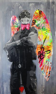Street art by French Street artist KURAR