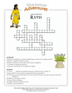 Bible Crossword Puzzle: Ruth | Free Download