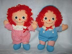 Vintage Dolls  Raggedy Ann and Andy Baby Pair 1980 by gatormom13, $13.00