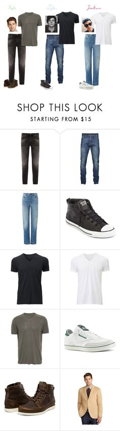 """Samantha Jones' Friends part 2"" by mjzahner ❤ liked on Polyvore featuring Nudie Jeans Co., T By Alexander Wang, Converse, Uniqlo, Rick Owens, Reebok and Brooks Brothers"