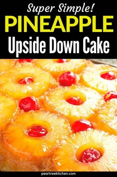 Upside Down Pineapple Cake Easy, Easy Desserts, Delicious Desserts, Box Cake Recipes, Pineapple Dessert Recipes, Yummy Eats, Desert Recipes, Yummy Drinks, Pastries