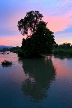 Sunset in Don Khong, Laos