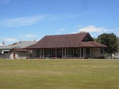 The Williamstown Croquet Club pavilion, designed by Morsby & Coates and constructed in at 104 Victoria Street, Williamstown. Australian Architecture, Historical Photos, Pavilion, Construction, Victoria, Cabin, Club, Street, House Styles