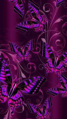 By Artist Unknown. Cool Backgrounds Wallpapers, Emo Wallpaper, Bling Wallpaper, Iphone Wallpaper Glitter, Flower Phone Wallpaper, Cellphone Wallpaper, Pretty Wallpapers, Phone Wallpapers, Purple Butterfly Wallpaper