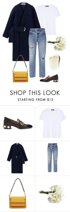 """""""Saturday Flower shopping"""" by deborarosa ❤ liked on Polyvore featuring Gucci, The Row, Jacquemus, RE/DONE and Marni"""