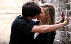 cute emo teen couples | Hug, teen, couple, kissing, wall, cute