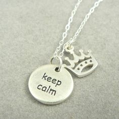 Keep Calm and Carry On sterling silver charm by asilomarworks via Polyvore