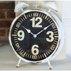 The Orchard Retro Mantel Alarm Clock