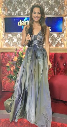 Brooke Burke wore this Jean Fares gown for DWS, Week 9!