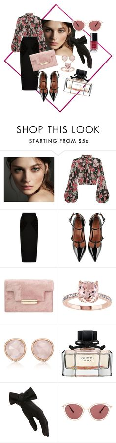 """classy"" by xxelectre on Polyvore featuring moda, Burberry, Jill Stuart, Balenciaga, RED Valentino, Monica Vinader, Gucci, Black e Oliver Peoples"