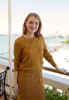 Emma Stone at the 'La La Land' Press Conference in Venice, Italy