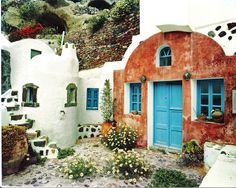 Santorini Blue Door   Tony Casper Photography