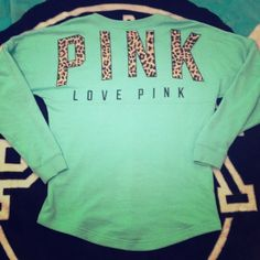 VS PINK blue cheetah print crew Sweater This is my baby!!! Just got it yesterday! Xs but oversized!! Mostly just showing because this is my ISO and I love it. Would only sell for a good offer or trade for something I just NEED! This is HTF!!! (Also if you have any other ones let me know)!!! PINK Victoria's Secret Sweaters