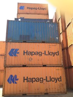 Hapag Lloyd 20' shipping containers