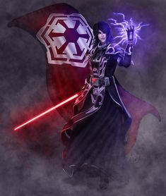 A commission piece I did of client's Sith character for SWTOR. Email me if you're interested in having a commission done. Star Wars Film, Star Wars Rpg, Star Trek, Star Wars Characters Pictures, Star Wars Images, Fantasy Characters, Jedi Sith, Sith Lord, Character Art