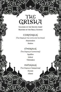 The grisha order - The Grisha Trilogy