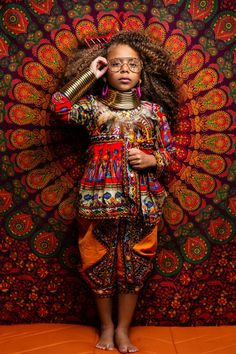 Beautiful and timeless shots from a timeless photo session inspired by African tribes.