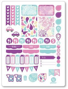 One 6 x 8 sheet of paisley weekly spread planner stickers cut and ready for use in your Erin Condren life planner, Filofax, Plum Paper, etc! An