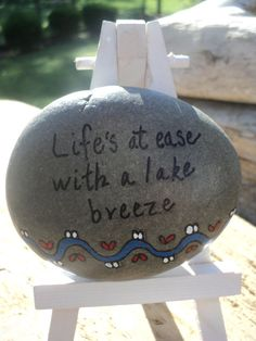 Lifes at ease with a lake breezeinspirational by TheSeashoreStore, $8.00