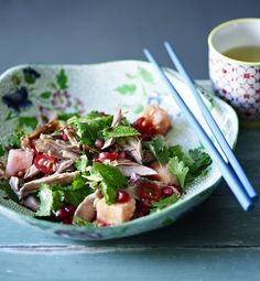 Crispy duck salad - an indulgent salad if ever there was one!