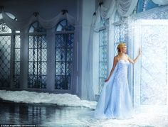 """""""Reminiscent of Elsa's 'Snow Queen' dress, the ice-blue, softly flared sheath gown has been dramatic. - Photo: Courtesy of Alfred Angelo. Alfred Angelo, Disney Inspired Wedding Dresses, Disney Dresses, Wedding Disney, Prom Dresses, Bridal Collection, Dress Collection, Snow Queen Dress, Gowns Of Elegance"""