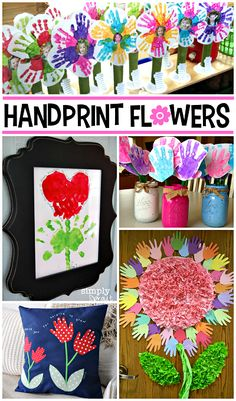 Handprint Flower Craft Ideas for Kids - Crafty Morning #CraftsDIYSerendipity #crafts #diy #projects #tutorials Craft and DIY Projects and Tutorials