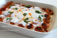 disal'in gözünden mutfak: YUFKALI KOLAY TEPSİ MANTISI