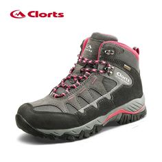 Clorts Hiking Boots Women Waterproof Winter Sneakers Women's Outdoor Sport Boots Leather Large Size Hiking Shoes HKM-823