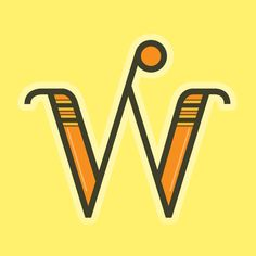 1 Letter by Luis Palencia Letter W, Life Philosophy, World View, Typography Letters, Design Inspiration, Graphic Design, Orange, Yellow, Fonts