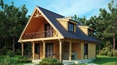 23 Ideas Home Design Exterior Simple Dreams Hut House, Tiny House Cabin, Cabin Homes, Cottage Homes, Log Homes, Style At Home, Casas Tudor, Refuge, Attic Design