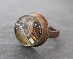 Steampunk Resin Bullet Shell Ring