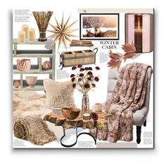 """Winter Cabin"" by marionmeyer on Polyvore featuring interior, interiors, interior design, Zuhause, home decor, interior decorating, UGG, Skogsberg & Smart, Liska und Illume"