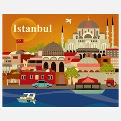 Istanbul Print, $22, now featured on Fab.