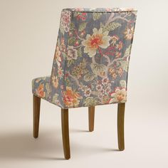 Perfect With A Warm Hued Floral Motif And Subtle Wingback Profile, Our Blue And  Gray Fabric Dining Chair Pairs Textural Appeal With Classic Style Thatu0027s At  Home In ...